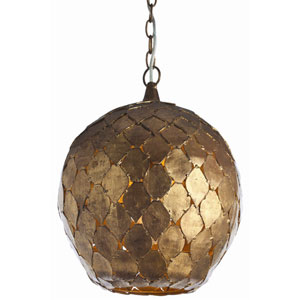 Osgood Gold Leaf One Light Iron Pendant