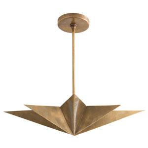 Rex Antique Brass Four-Light Pendant