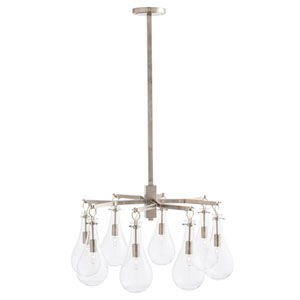 Sabine Polished Nickel Nine-Light Chandelier