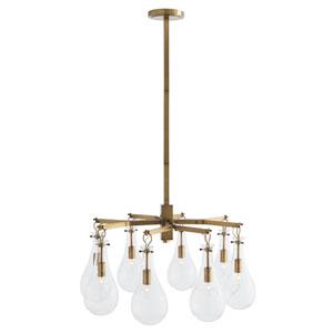 Sabine Antique Brass Eight-Light Chandelier