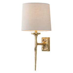 Franz Matte Brass One-Light Sconce