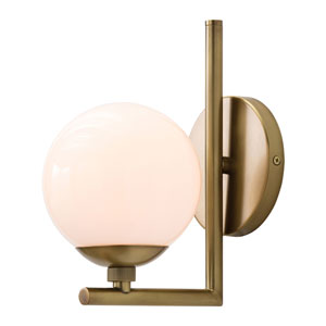 Quimby Antique Brass One-Light Bath Sconce