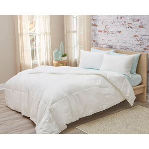 Cotton Sateen Twin Down Alternative All Season Weight Comforter
