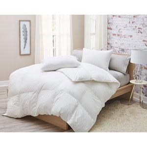 850 Fill Power Siberian White Goose Full/Queen Down German Batiste Cotton Comforter