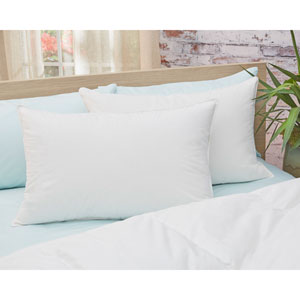 650 Fill Power White Medium King Down Cotton Pillow