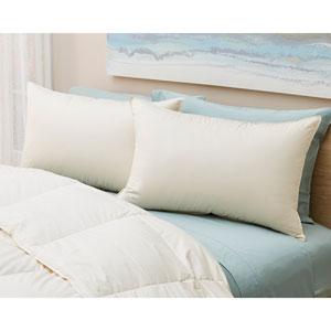 Firm Standard Down Organic Cotton Pillow