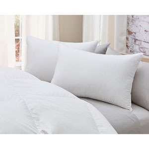 850 Fill Power White Medium Standard Goose Down German Batiste Cotton Pillow