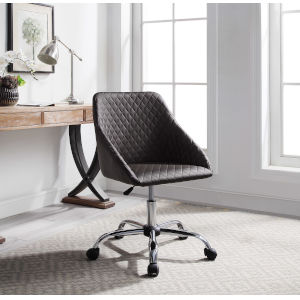 Liam Silver 21-Inch Quilted Office Chair
