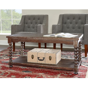 Olivia Brown Spindle Coffee Table