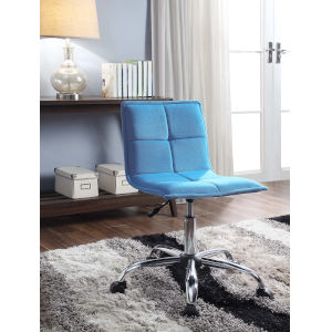 Maria Chrome Silver Office Chair