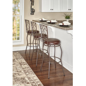 Lillian Brown Adjustable Stool Set of Three