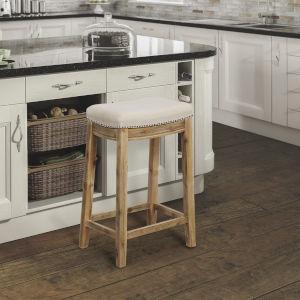 Claridge Acacia Wood Counter Stool