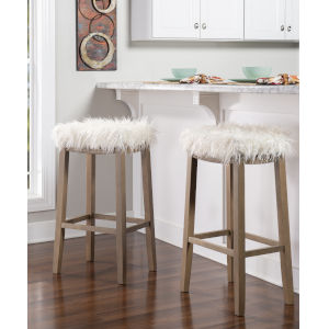Claridge Faux Flokati Bar Stool