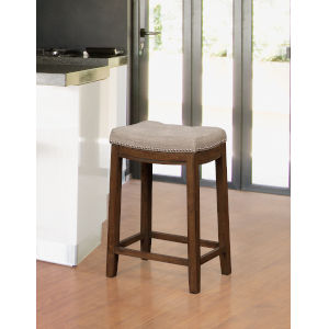 Benjamin Rustic 18-Inch Backless Bar Stool