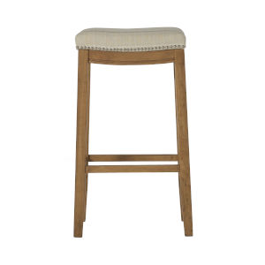 Benjamin Rustic Brown 19-Inch Backless Bar Stool