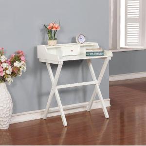 Brooks White Folding Desk