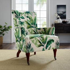 Daniel Dark Walnut Leaf Arm Chair