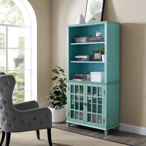 Henry Antique Turquoise Display Cabinet