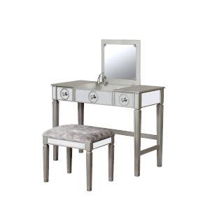 Hazel Silver Vanity Set
