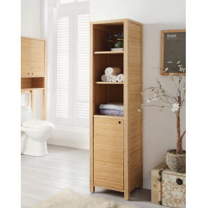 Carter Bamboo One Door Tall Cabinet