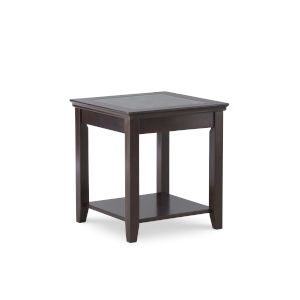 Leslie Dark Walnut End Table