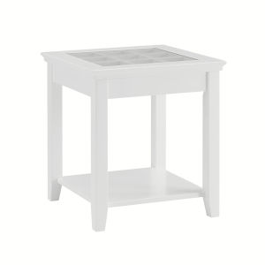 Leslie White End Table