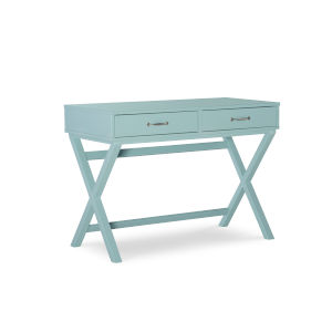 Pamela Pastel Turquoise Two Drawer Desk