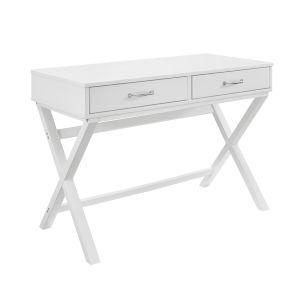 Pamela White Two Drawer Desk
