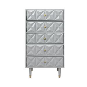 Geo Gray Five-Drawer Dresser Chest