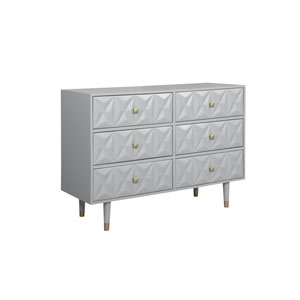 Geo Gray Six-Drawer Dresser