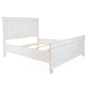 Bianca Rustic White Queen Bed