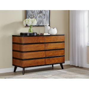 Isabella Walnut Six Drawer Dresser