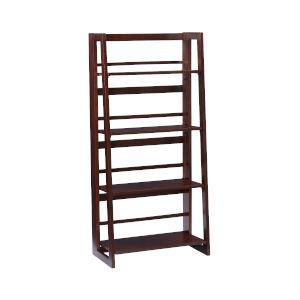 Olivia Walnut Folding Bookcase