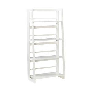 Olivia White Folding Bookcase