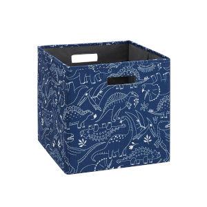 Liam Blue Dinosaur Storage Bin, Pack of 2