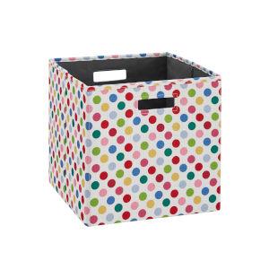 Liam Multicolor Polkadot Storage Bin, Pack of 2