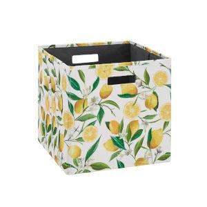 Liam Multicolor Lemon Storage Bin, Pack of 2