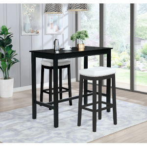 Noah Black 42-Inch Bar Height Pub Table