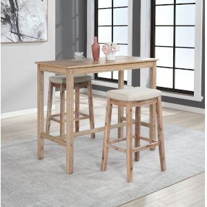 Noah Distressed Brown 42-Inch Bar Height Pub Table