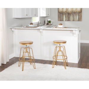 Clayton Gold 25-Inch Adjustable Stool
