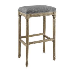 Adah Charcoal Grey Backless Barstool