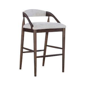 Marrie Brown Upholstered Bar Stool