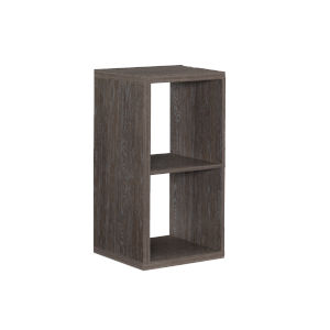 Ellis Grey Two Cubby Storage Cabinet