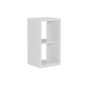 Ellis White Two Cubby Storage Cabinet