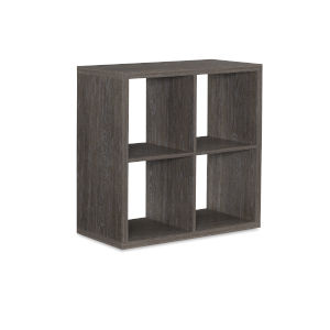Ellis Grey Four Cubby Storage Cabinet