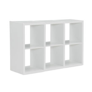 Ellis White Six Cubby Storage Cabinet