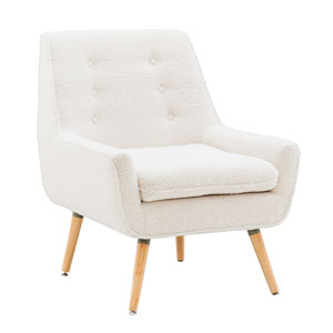 Trelis White and Natural Chair