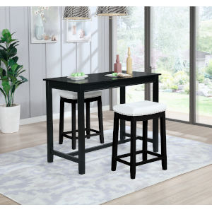 Noah Black 36-Inch Counter Height Pub Table