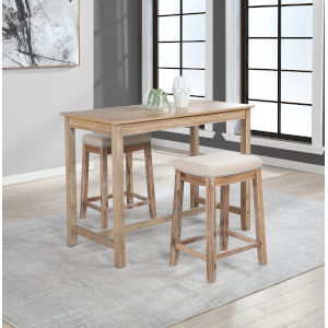 Noah Distressed Brown 36-Inch Counter Height Pub Table