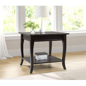 William Espresso End Table